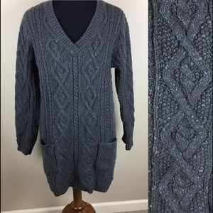 Sort Surroundings cable knit tunic sweater size TL